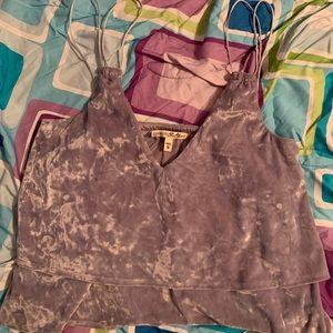 Velvet tank top